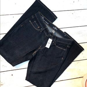 NEW LOFT Curvy Bootcut Size 6P Denim Jeans